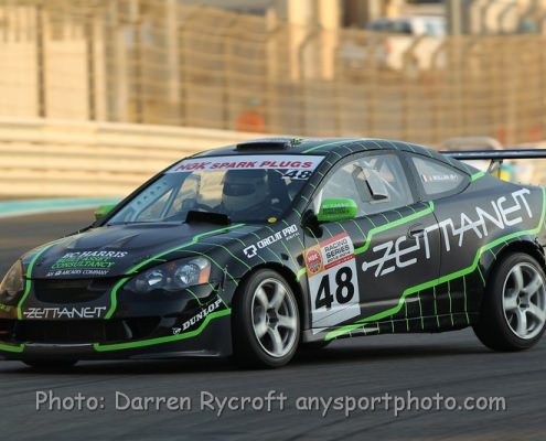 Zettanet Honda with the new Andy Blackmore designed livery at Yas Marina